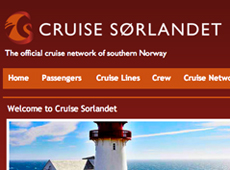 "Website ""Cruise Sørlandet"""